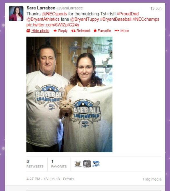 Want to win #FreeTees like the ones in the above tweet? Follow @NECsports on Twitter for periodic giveaways.