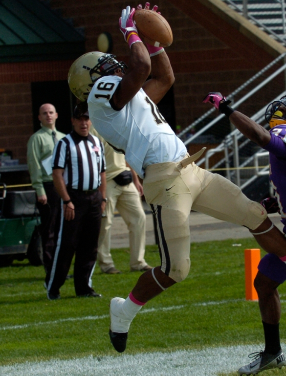 Harris hauls in one of his 15 TD receptions in 2012.