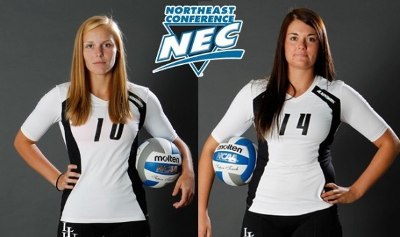 Annika Foit and Jessica Rice both earned NEC weekly honors for their efforts in Gainesville.