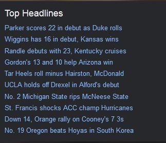 yahoo headlines
