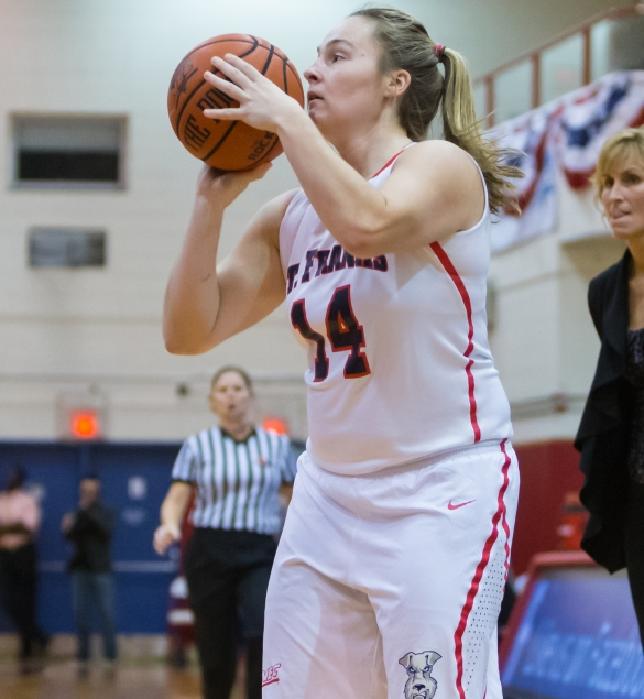 Sarah Benedetti (11.7 ppg) is one of three SFBK Terriers scoring in double figures.