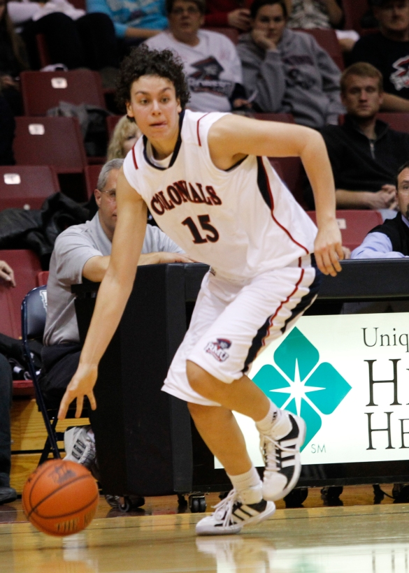 GODDESS OF THE HARDWOOD: The Greek-born Spanou has done everything from win a NCAA Division I rebounding title to capturing the #NECWBB Player of the Year award, but her collegiate career won't be complete without a conference crown.