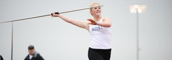 Heather Juhring currently ranks first amongst NEC leaders in the javelin, but will her seed hold up at next week's league title meet?