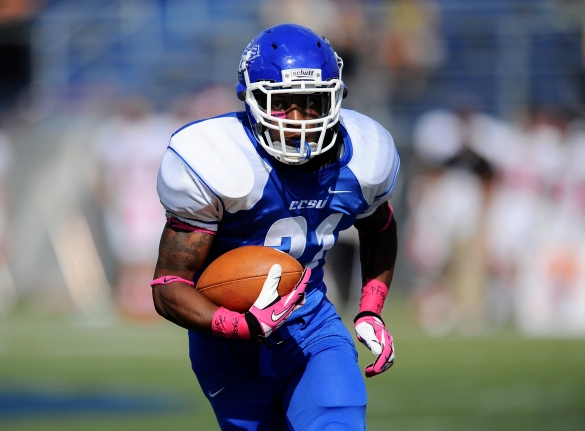 CCSU's Tyrell Holmes was one of four receivers to earn All-NEC honors in 2013. This year, the league will honor six WRs.