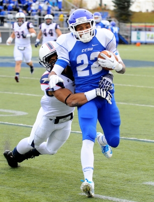 AP Rob Hollomon (CCSU): Hollomon, a Philadelphia product, has eclipsed the 1,000-yard rushing mark in each of his first two seasons in New Britain.