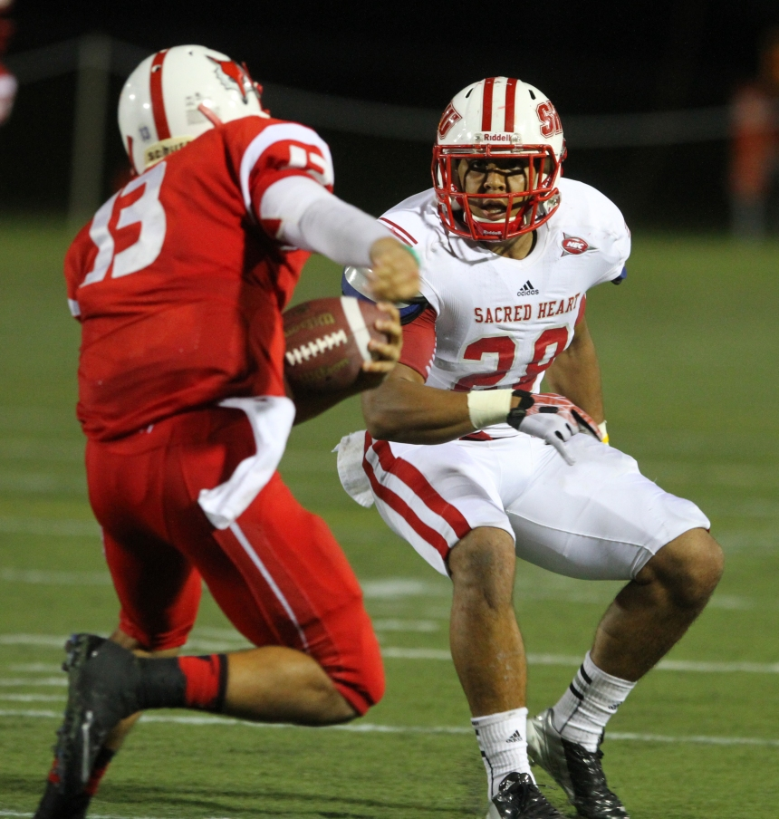 SHU safety Gordon Hill totaled 26 tackles during the Pioneers' two wins over top-25 teams.