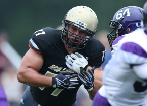 Bryant's Jeff Covitz is a three-time All-NEC First Teamer and the conference's all-time sacks leader.