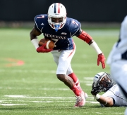 Duquesne KR Devin Rahming, a Second Team selection, was the lone NEC player to return both a kickoff and punt for TDs this season.
