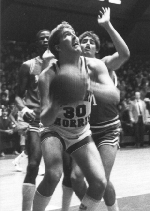 Former Robert Morris forward Tom Parks was the MVP of the first-ever #NECMBB Tournament. He scored 21 points in the 1982 ECAC Metro Championship Game.