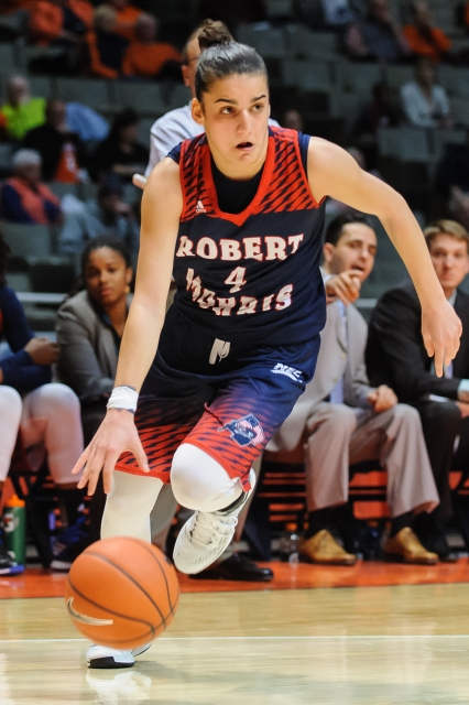 Anna Niki Stamolamprou is the leading scorer for the first-place Colonials.