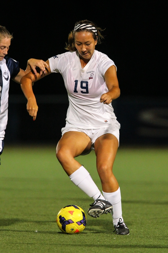 Rachel Hoekstra (above) and the FDU Knights kick off their regular season schedule at Temple on August 21. Seven other NEC women's soccer teams also open the 2015 campaign that day.