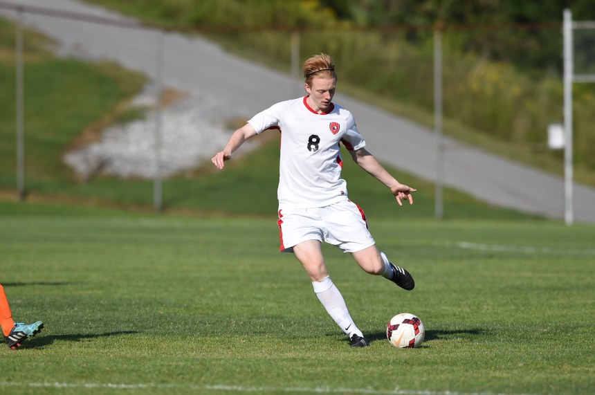 Francis deVries brings NSCAA All-America credentials to Saint Francis' back line.