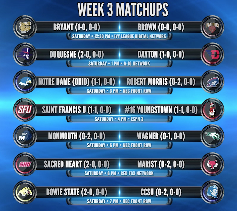 Week 3 Matchup Graphic