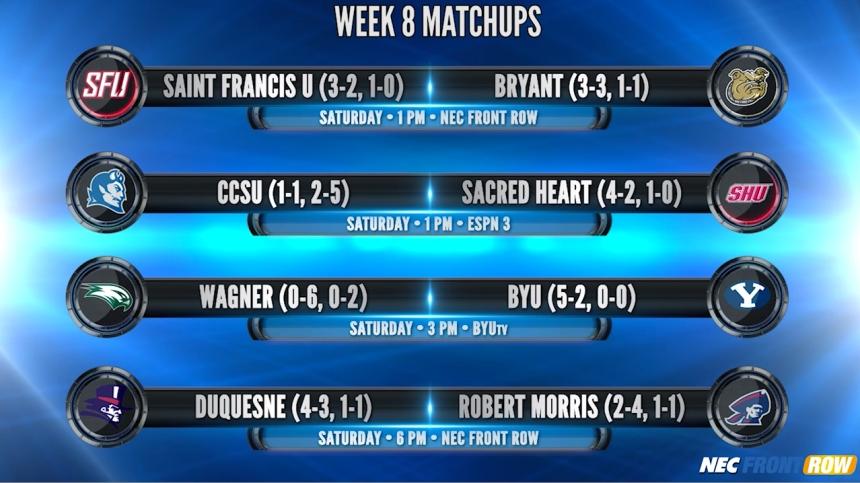 Week 8 Matchup Graphic