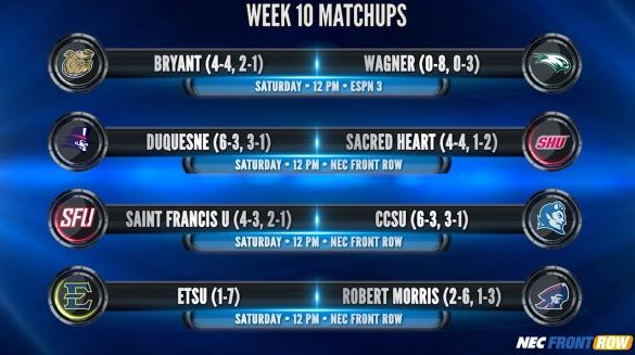 Week 10 Matchups