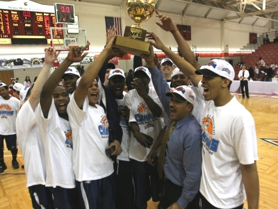 The Mount completed its improbable run through the 2008 NEC Tournament by downing Sacred Heart in the title tilt. (Photo by: © J. Gregory Raymond)