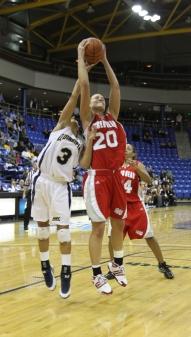 Callan Taylor pulls down the rebound.