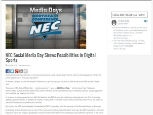 NEC SM Day Article Screenshot