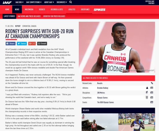 Rodney Article Screenshot