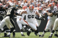 Hank Fraley (66) started every game for Cleveland from 2006-2008. (PHOTO - Cleveland Browns)
